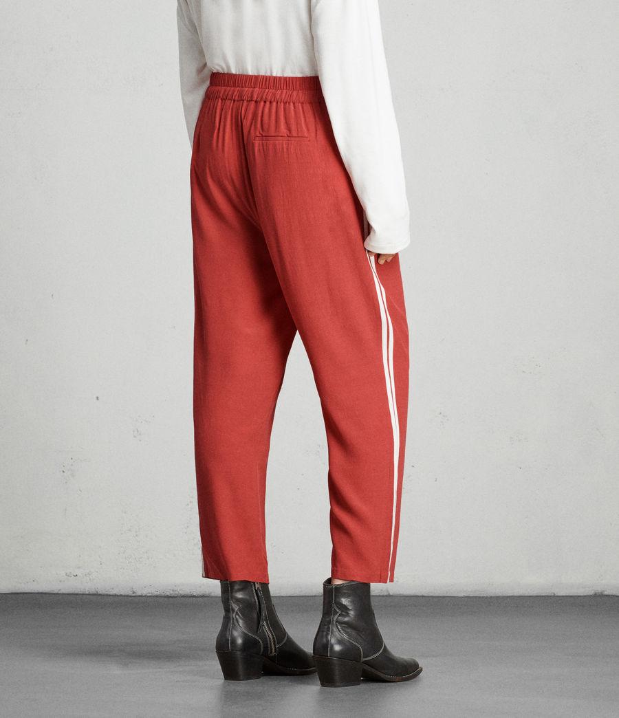 Womens Talia Stripe Trouser (coral_red_white) - Image 4
