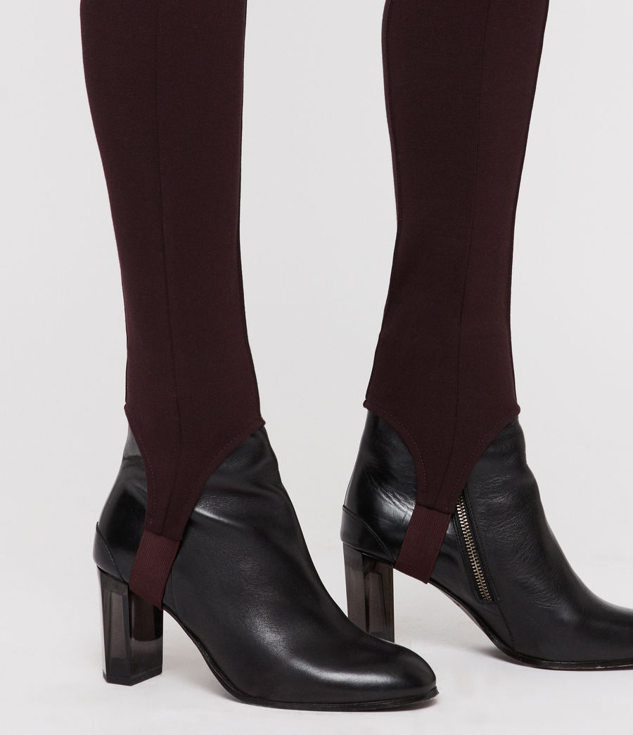 Damen Terro Stirrup Leggings (burgundy_red_marl) - Image 2
