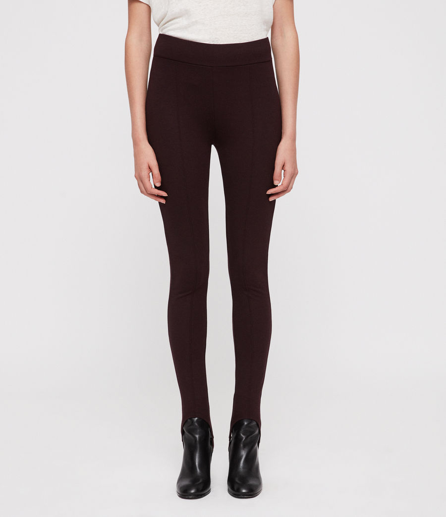 Damen Terro Stirrup Leggings (burgundy_red_marl) - Image 3