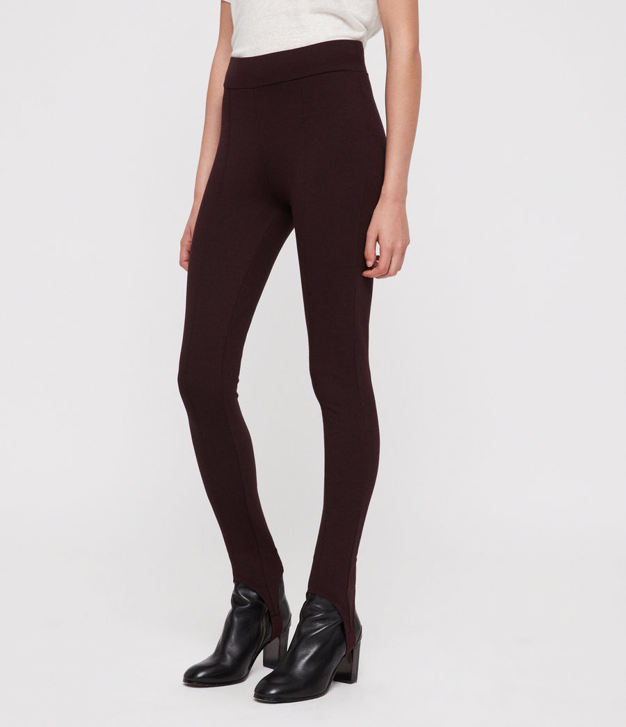 Damen Terro Stirrup Leggings (burgundy_red_marl) - Image 4