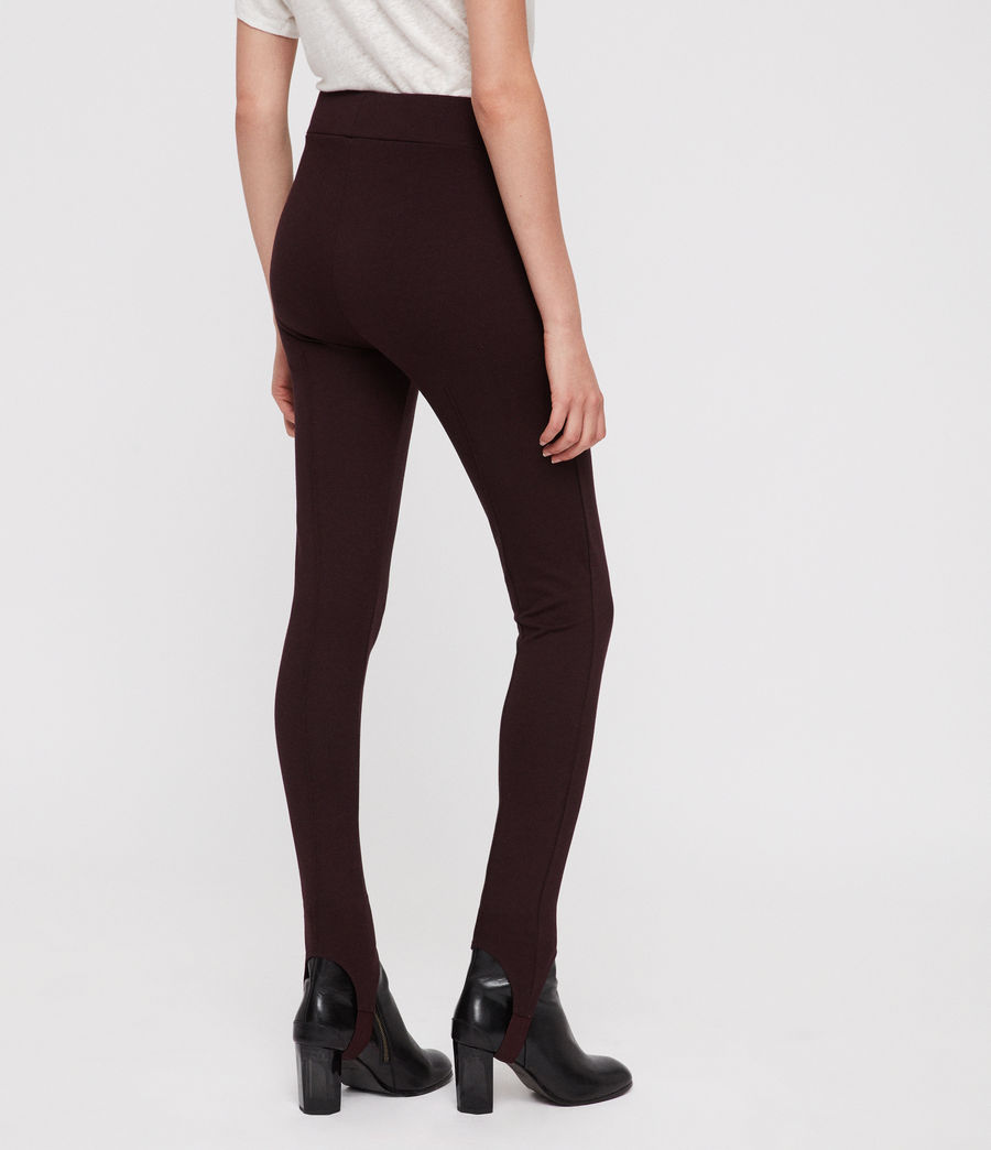 Damen Terro Stirrup Leggings (burgundy_red_marl) - Image 5