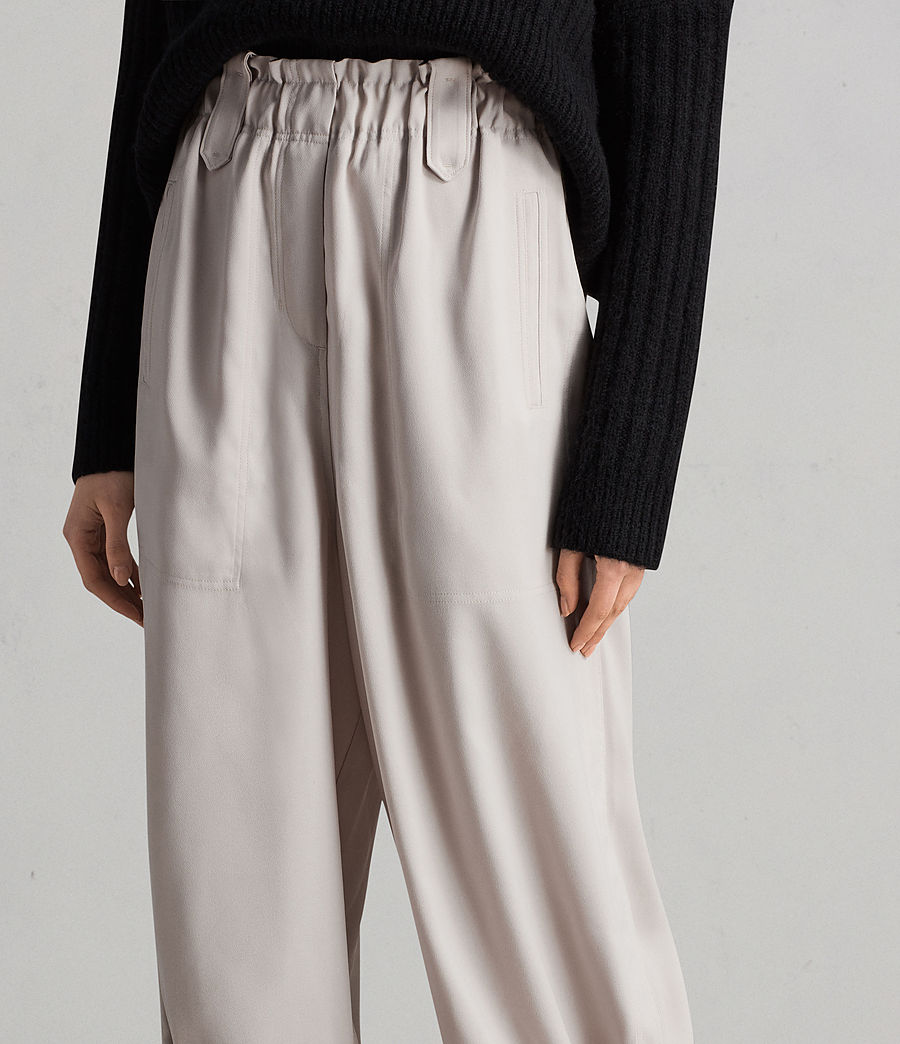 Womens Mercer Pants (oyster_white) - Image 2