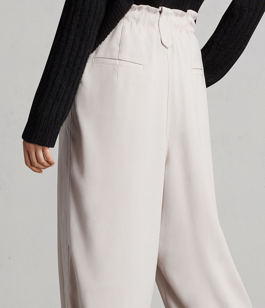 Womens Mercer Pants (oyster_white) - Image 4