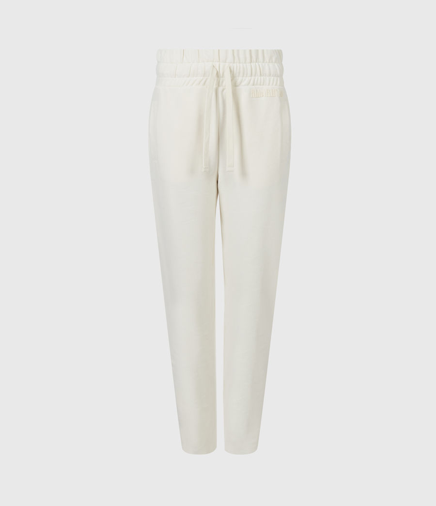 Womens Lila Cropped Sweatpants (ecru_white) - Image 2