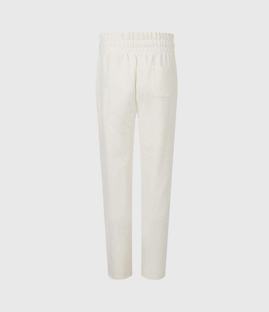 Womens Lila Cropped Sweatpants (ecru_white) - Image 3