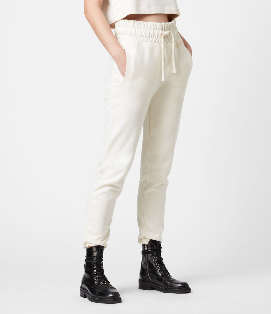 Womens Lila Cropped Sweatpants (ecru_white) - Image 4