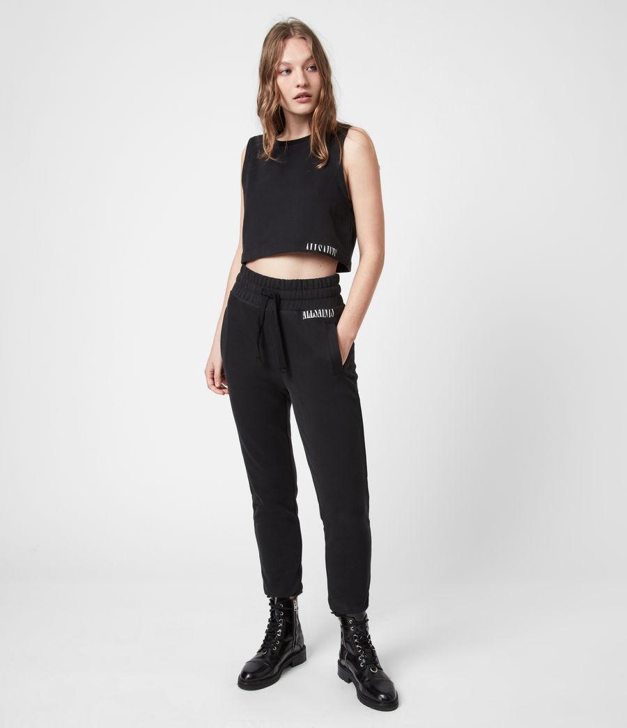 Womens Lila Cropped Sweatpants (black) - Image 1