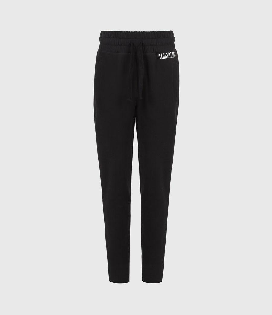 Womens Lila Cropped Sweatpants (black) - Image 2