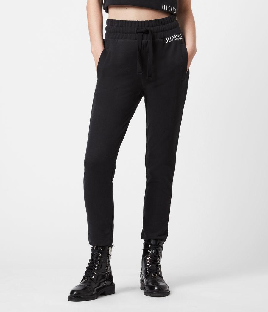 Womens Lila Cropped Sweatpants (black) - Image 4