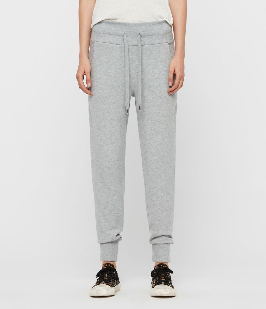 Womens Darcia Brushed High-Rise Joggers (black) - Image 4
