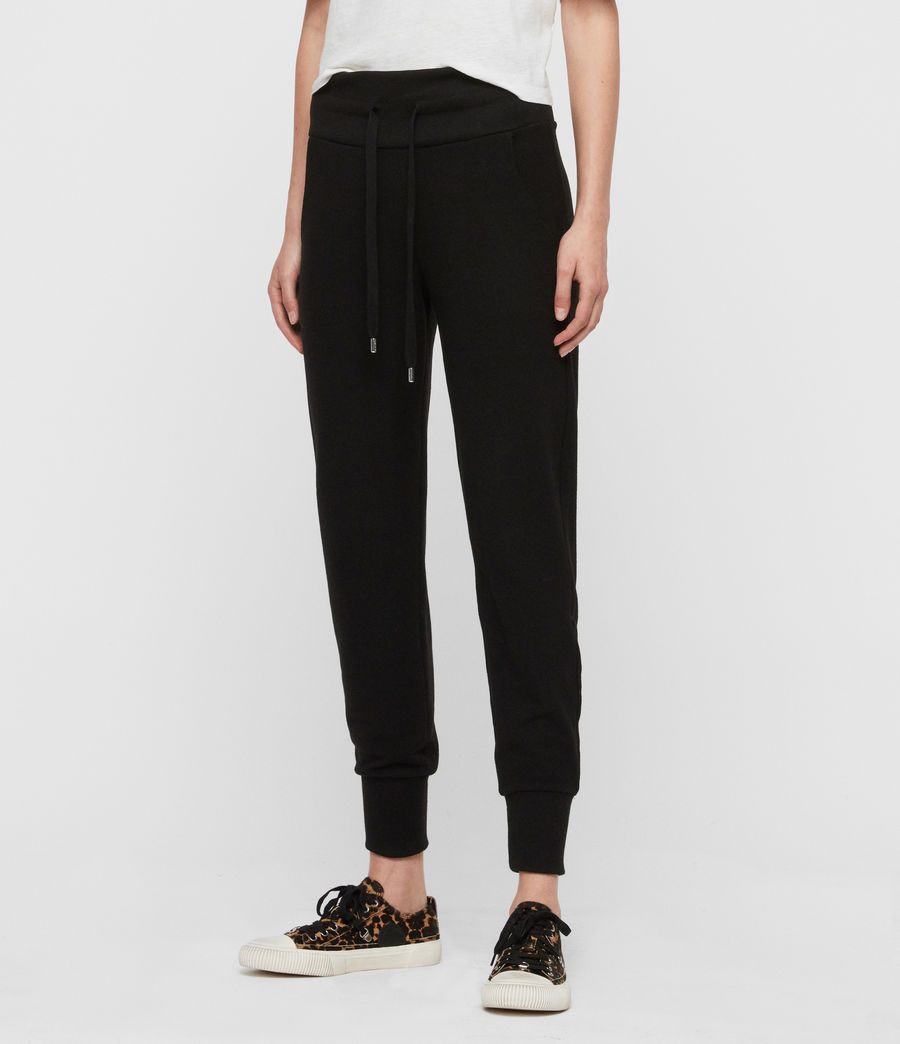 Women's Darcia Brushed High-Rise Joggers (black) - Image 2