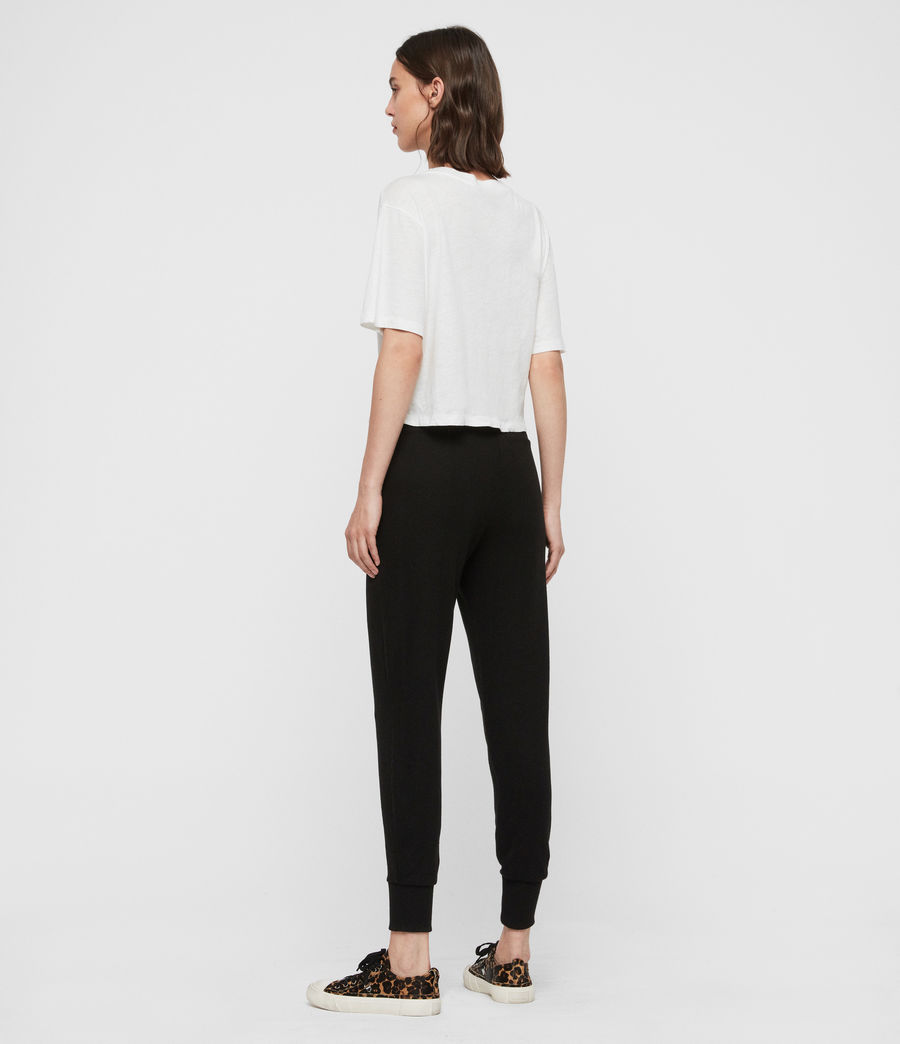 Womens Darcia Brushed High-Rise Joggers (black) - Image 5