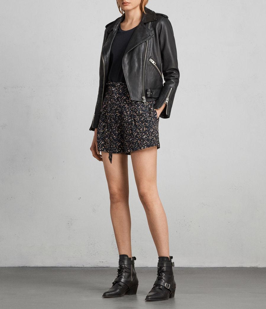 Womens Kelsey Pepper Shorts (black) - Image 1