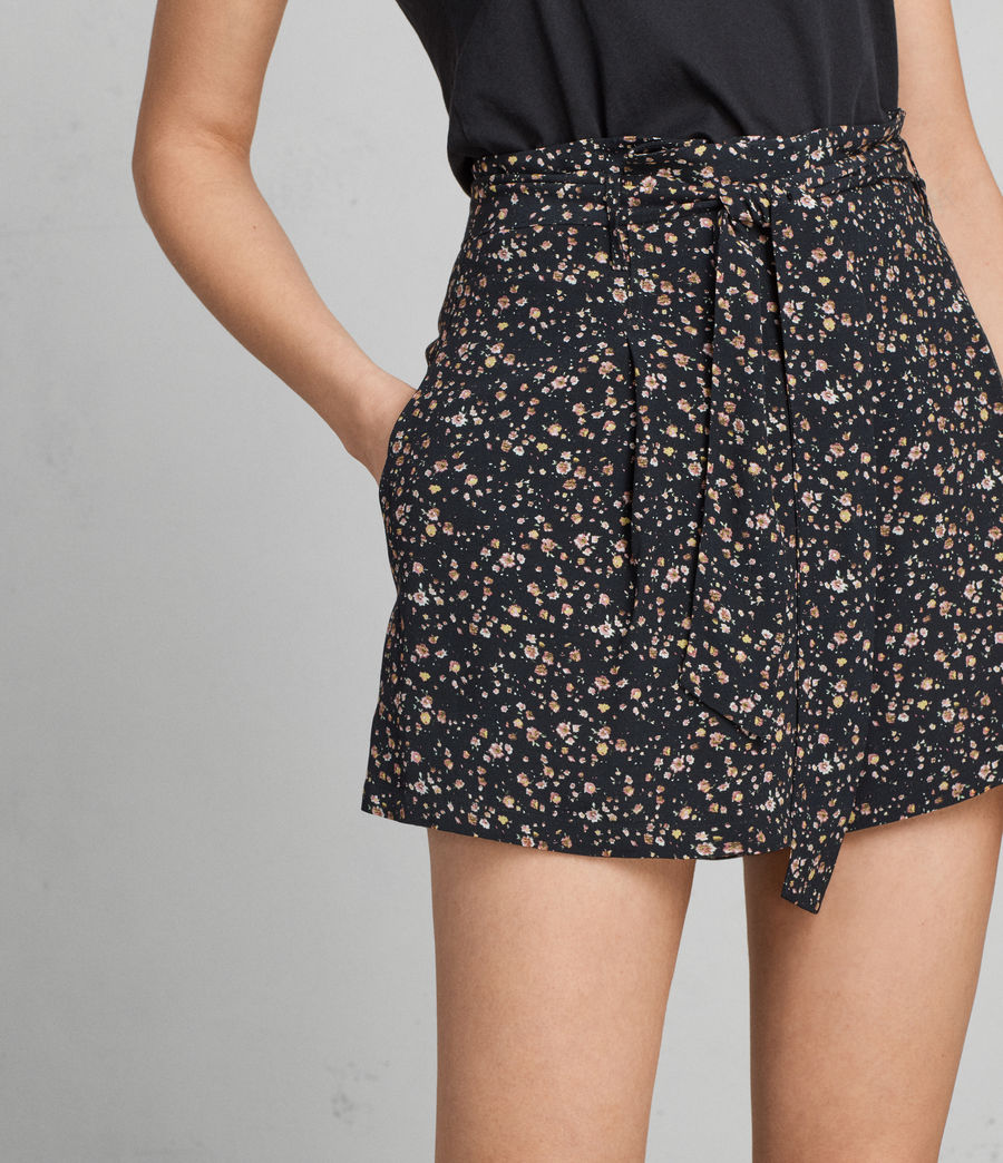 Womens Kelsey Pepper Shorts (black) - Image 2