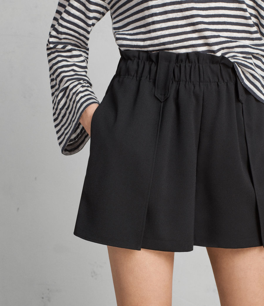 Womens Mercer Shorts (black) - Image 2