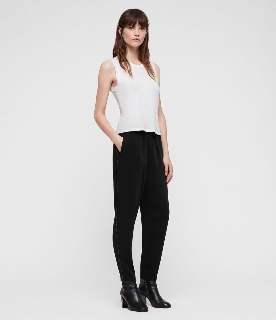 Womens Helena Stud Trousers (black) - Image 1