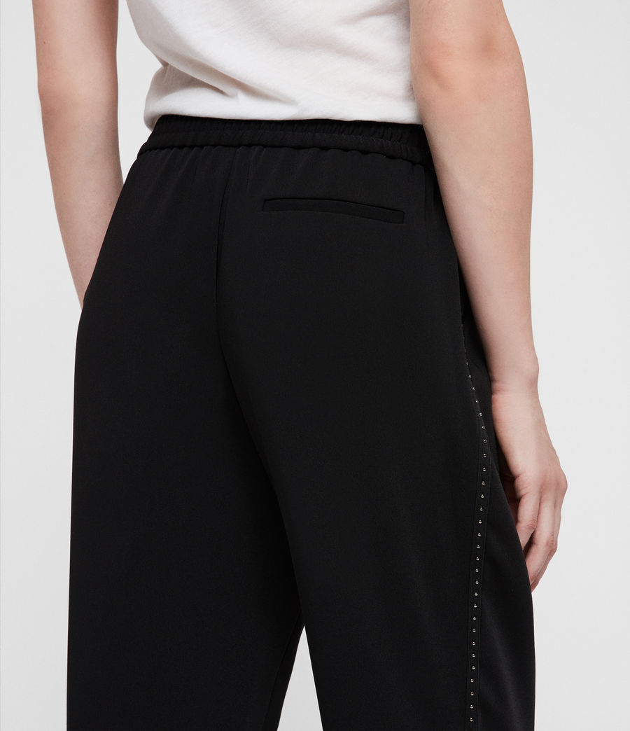 Womens Helena Stud Trousers (black) - Image 2