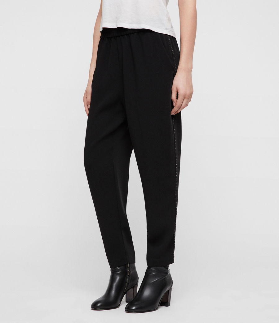 Womens Helena Stud Trousers (black) - Image 4