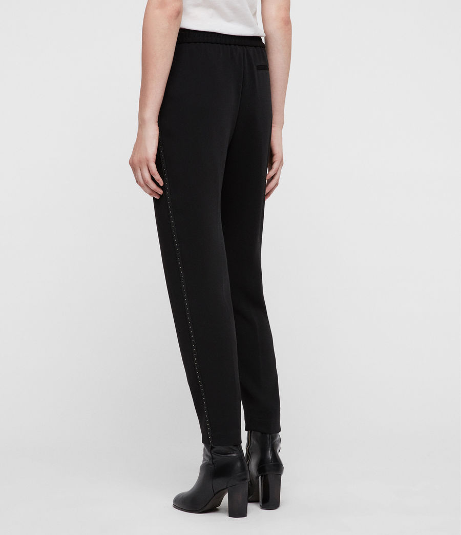 Womens Helena Stud Trousers (black) - Image 5
