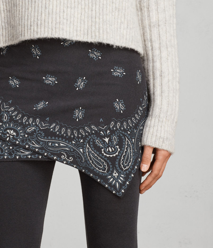 Womens Raffi Bandana Leggings (black) - Image 2