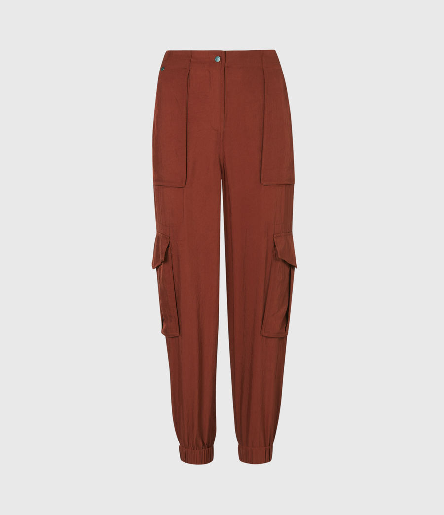 Women's Frieda Mid-Rise Cuffed Trousers (rust_red) - Image 2