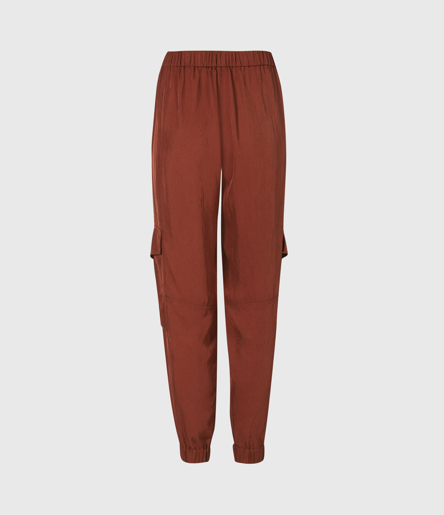 Women's Frieda Mid-Rise Cuffed Trousers (rust_red) - Image 3