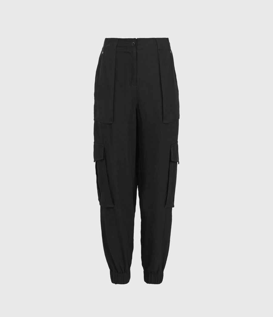 Damen Frieda Mid-Rise Trousers (black) - Image 2