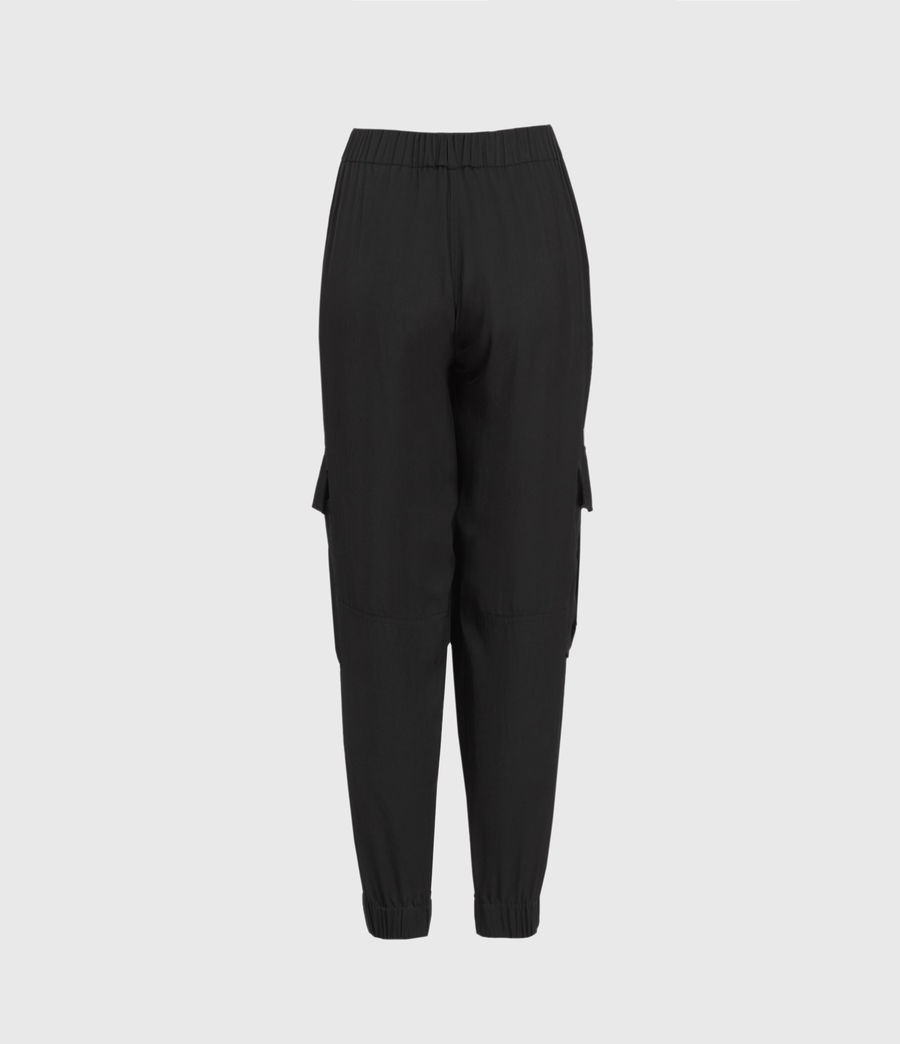 Mujer Frieda Mid-Rise Trousers (black) - Image 3