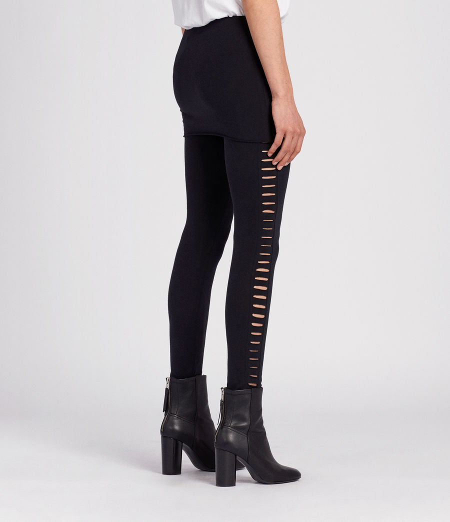 Donne Leggings Raffi Slash (black) - Image 4