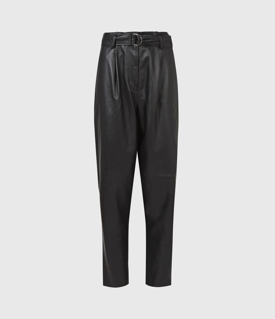 Femmes Pantalon en Cuir Lana (black) - Image 2