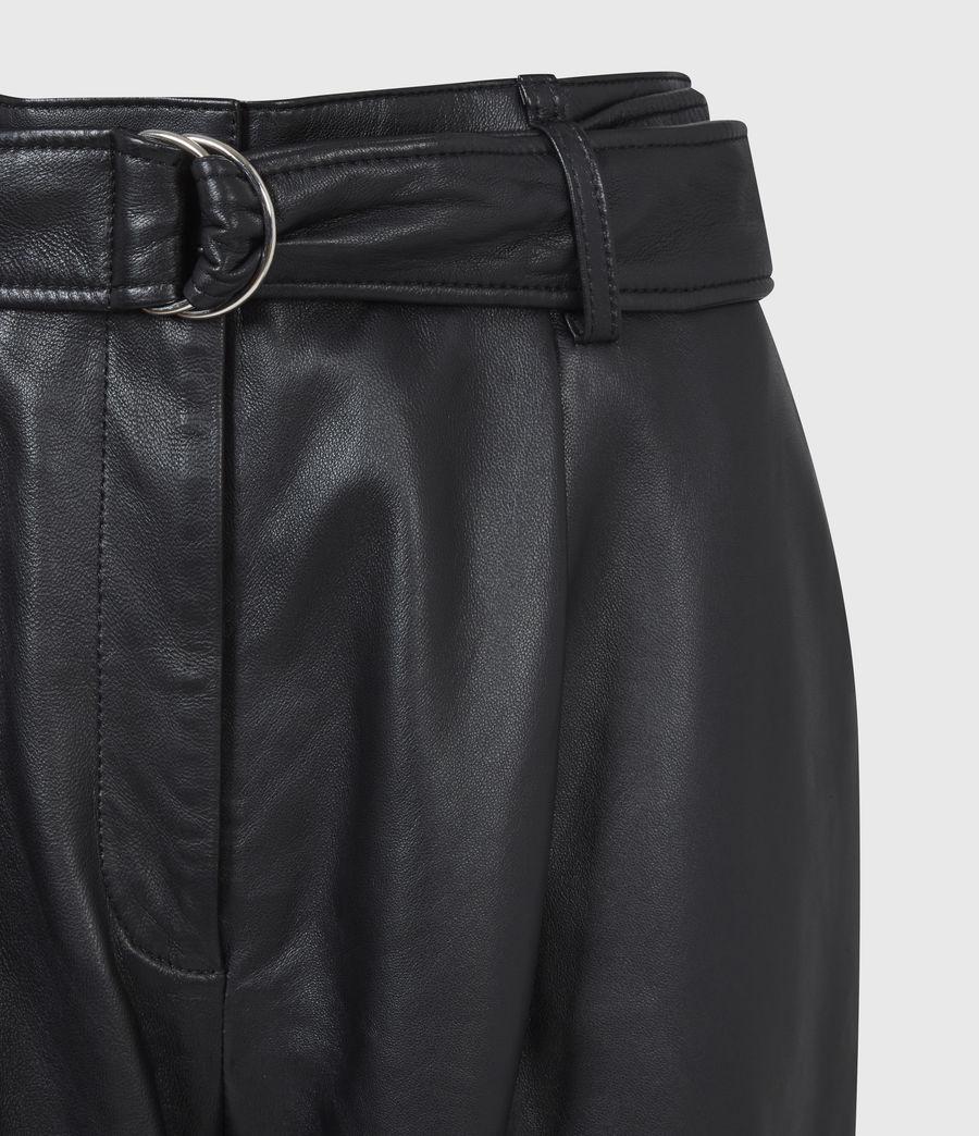 Femmes Pantalon en Cuir Lana (black) - Image 4