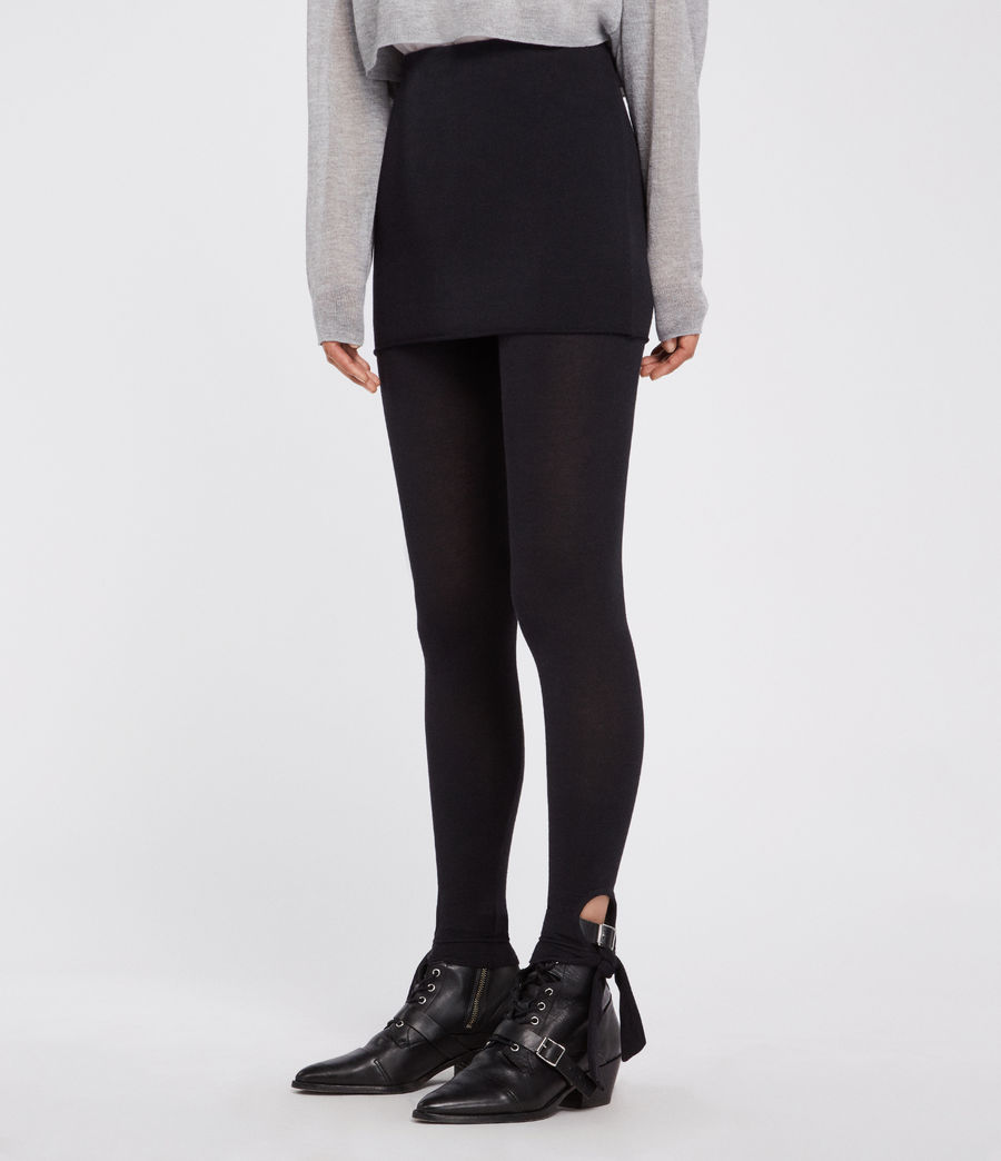 Women's Raffi Tie Leggings (black) - Image 3