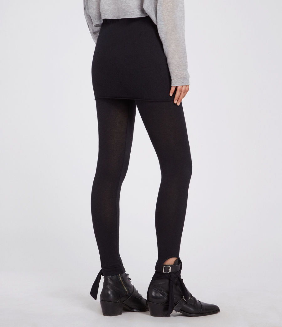 Women's Raffi Tie Leggings (black) - Image 4