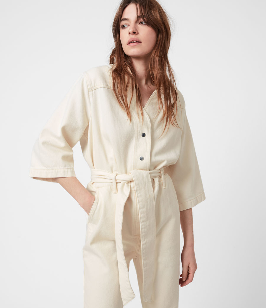 Womens Mira Utility Denim Jumpsuit (natural_white) - Image 4