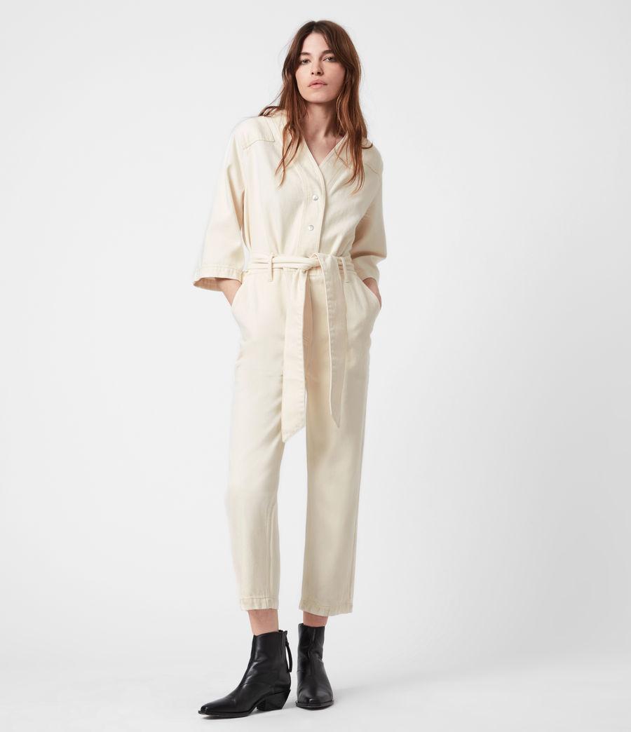 Womens Mira Utility Denim Jumpsuit (natural_white) - Image 7