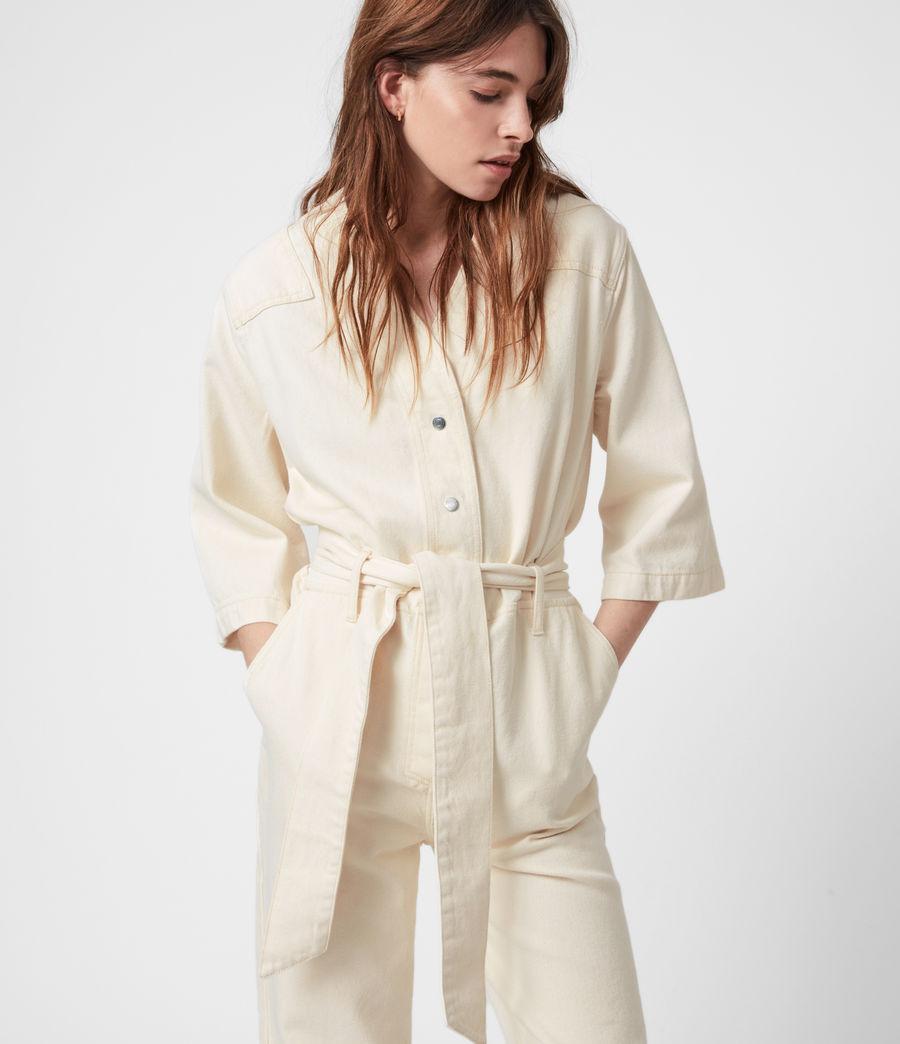 Womens Mira Utility Denim Jumpsuit (natural_white) - Image 8