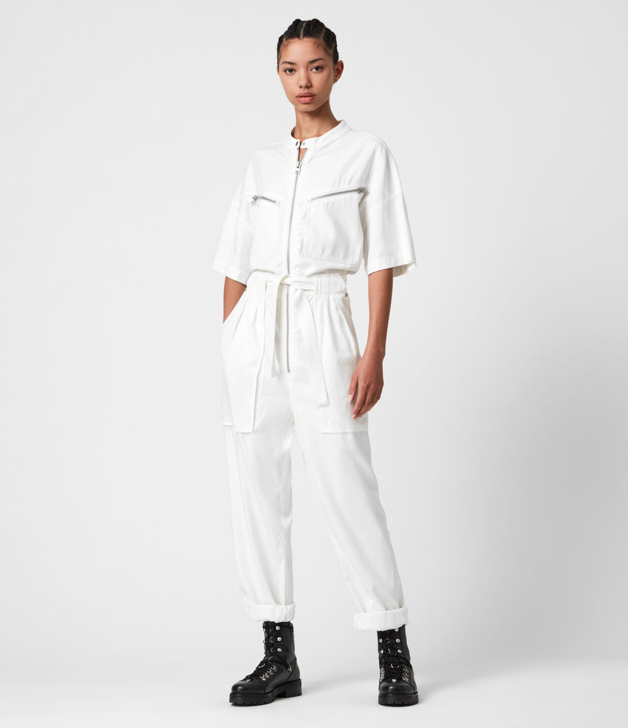 Women's Vola Jumpsuit (chalk_white) - Image 4