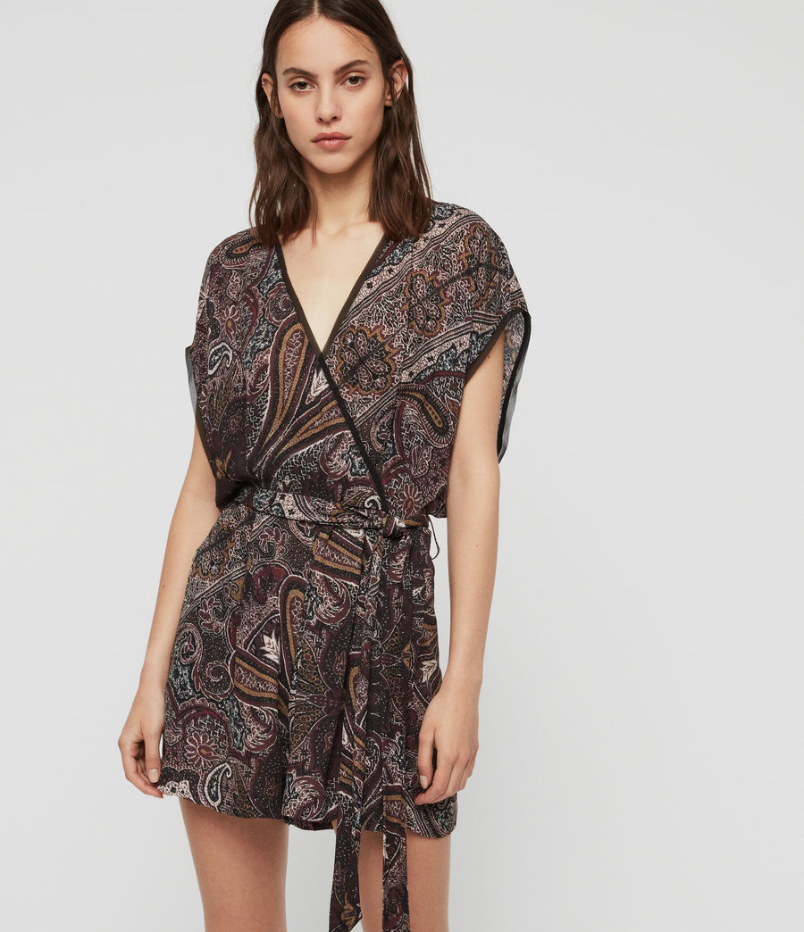 Women's Reid Scarf Playsuit (purple) - Image 1