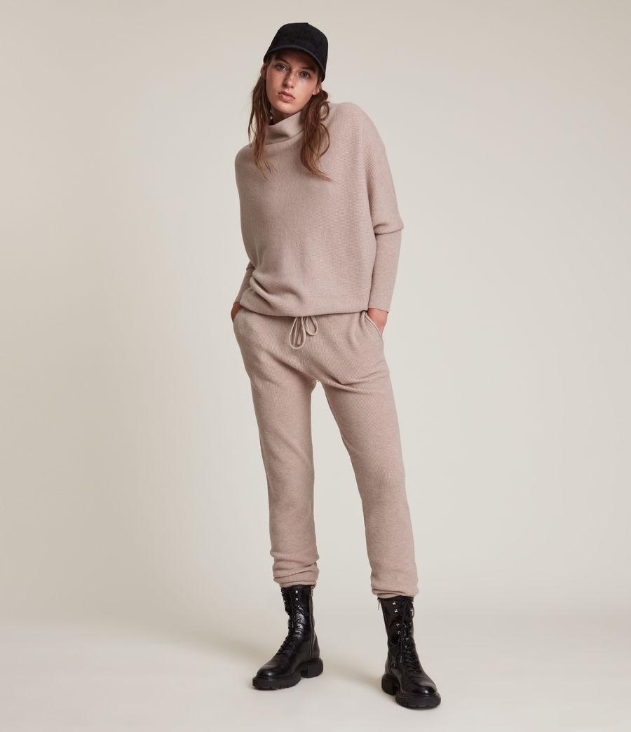 Women's Ridley Wool Cashmere Blend Joggers (pashmina_pink) - Image 1