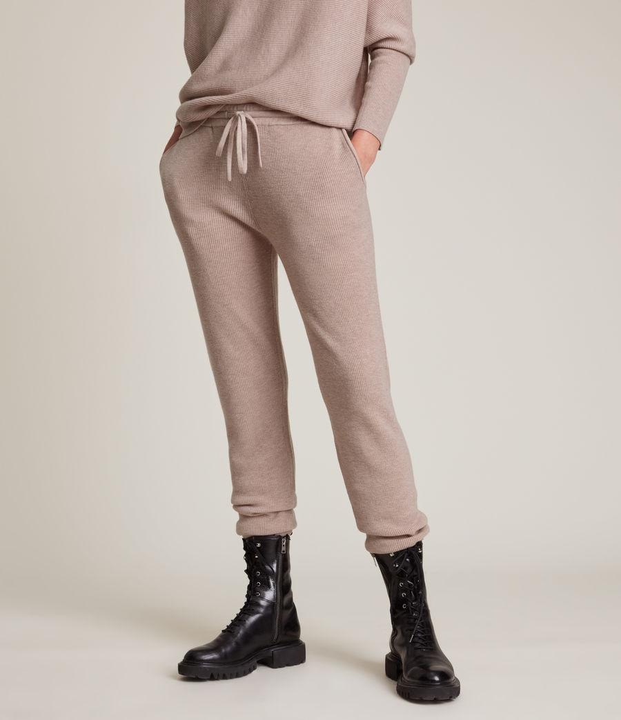 Women's Ridley Wool Cashmere Blend Joggers (pashmina_pink) - Image 2