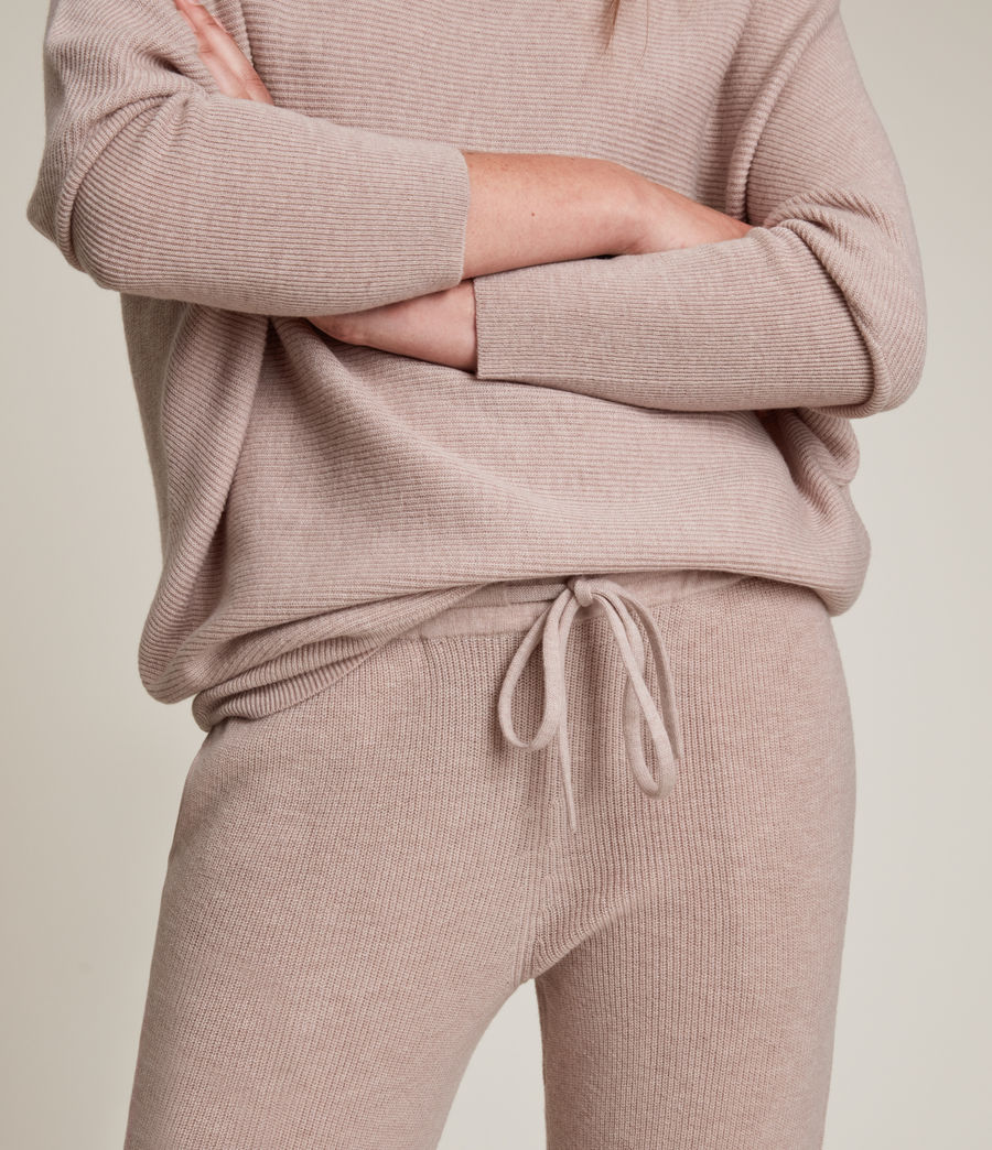 Women's Ridley Wool Cashmere Blend Joggers (pashmina_pink) - Image 3