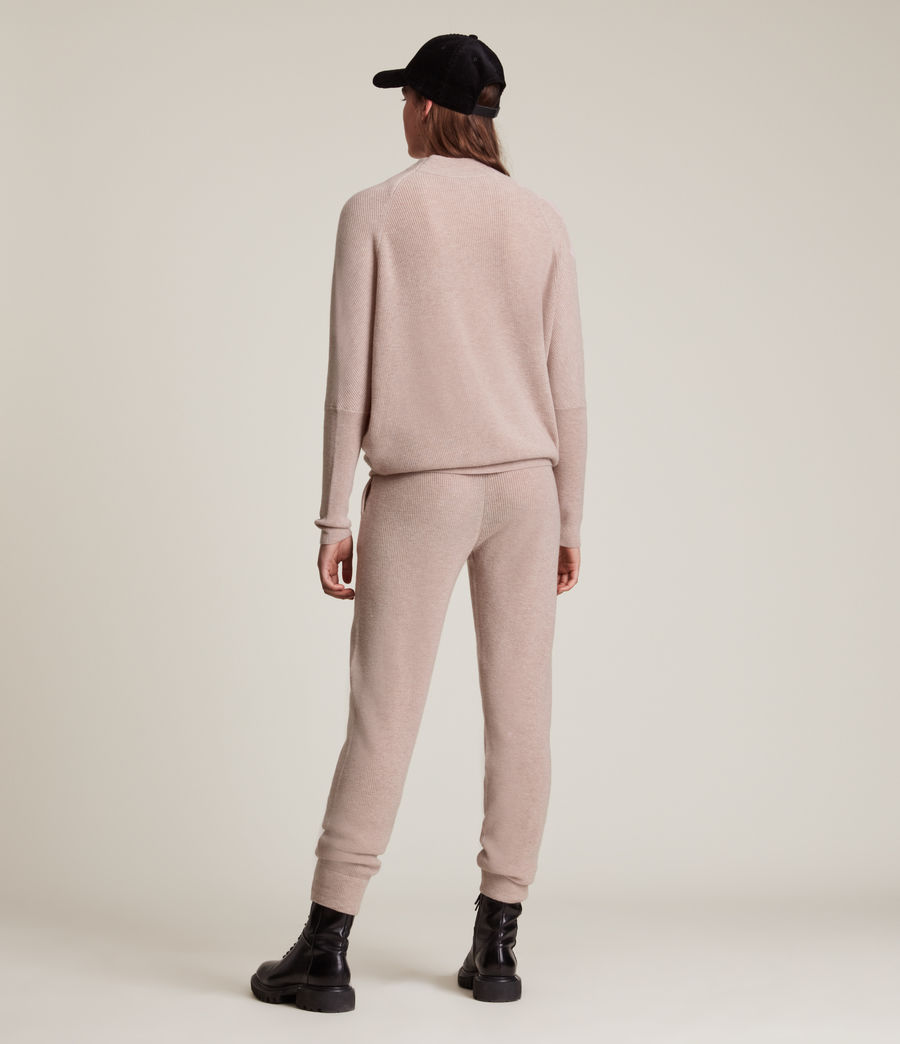 Women's Ridley Wool Cashmere Blend Joggers (pashmina_pink) - Image 4