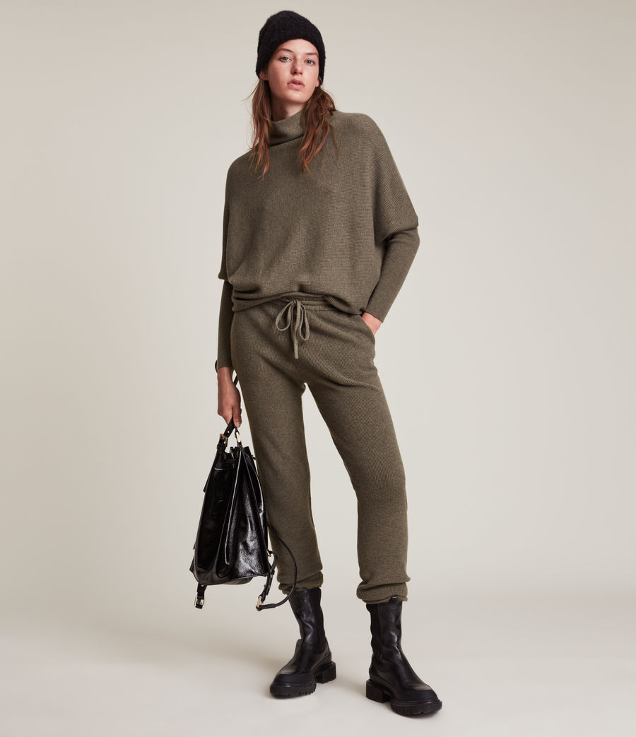 Femmes Ridley Wool Cashmere Blend Joggers (loch_brown_marl) - Image 1