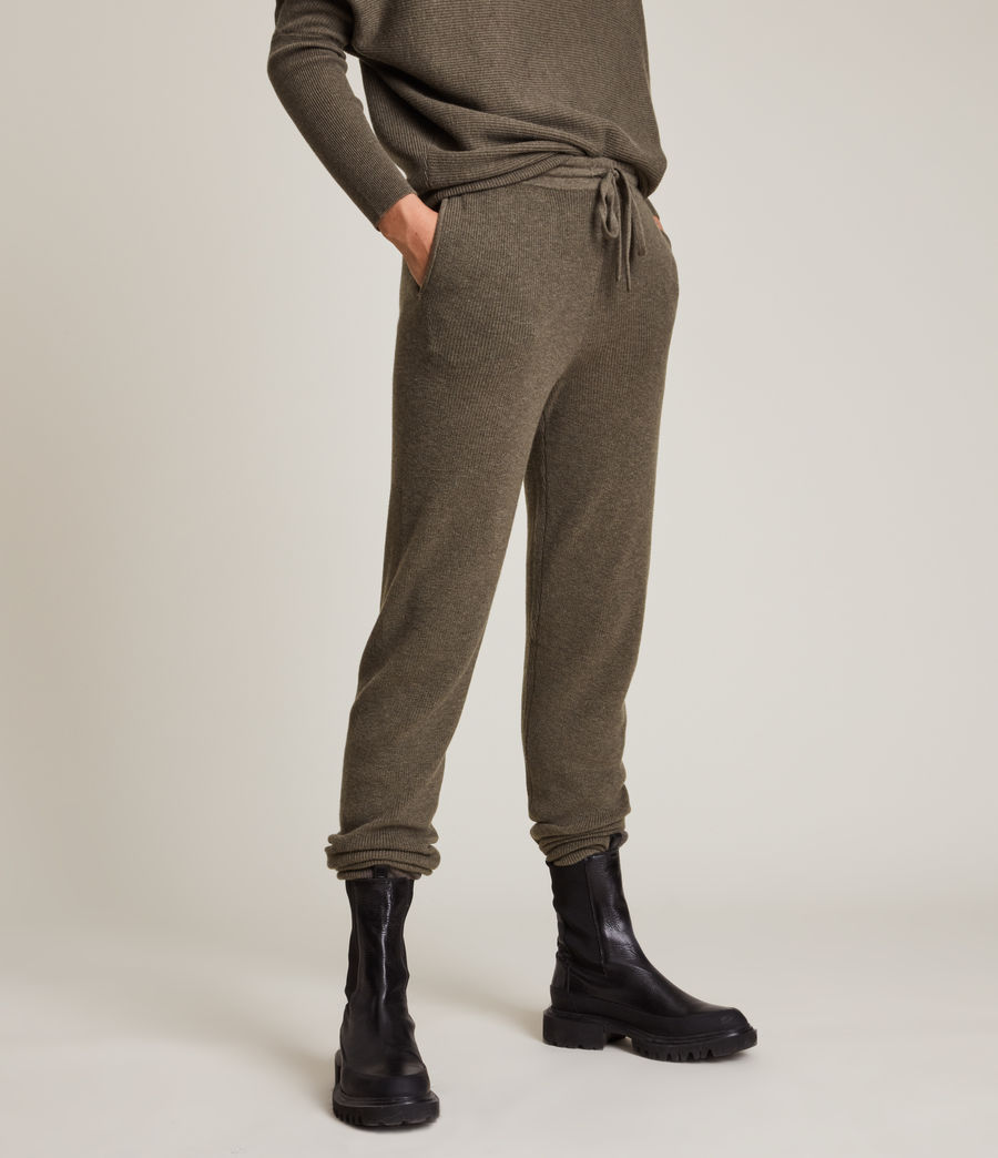 Femmes Ridley Wool Cashmere Blend Joggers (loch_brown_marl) - Image 2