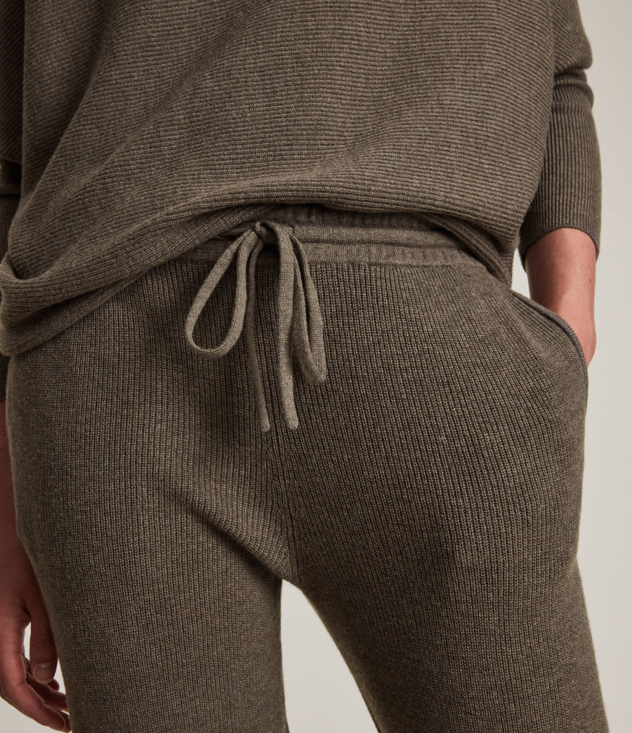 Femmes Ridley Wool Cashmere Blend Joggers (loch_brown_marl) - Image 3