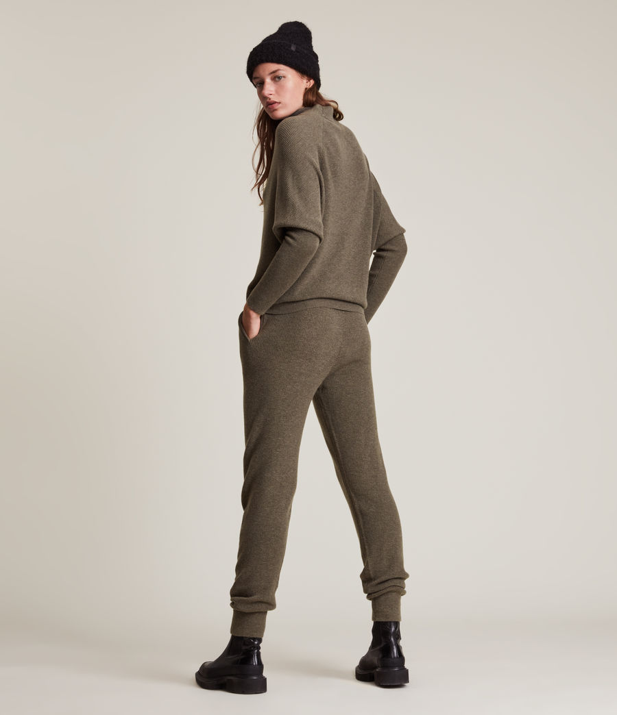 Femmes Ridley Wool Cashmere Blend Joggers (loch_brown_marl) - Image 4