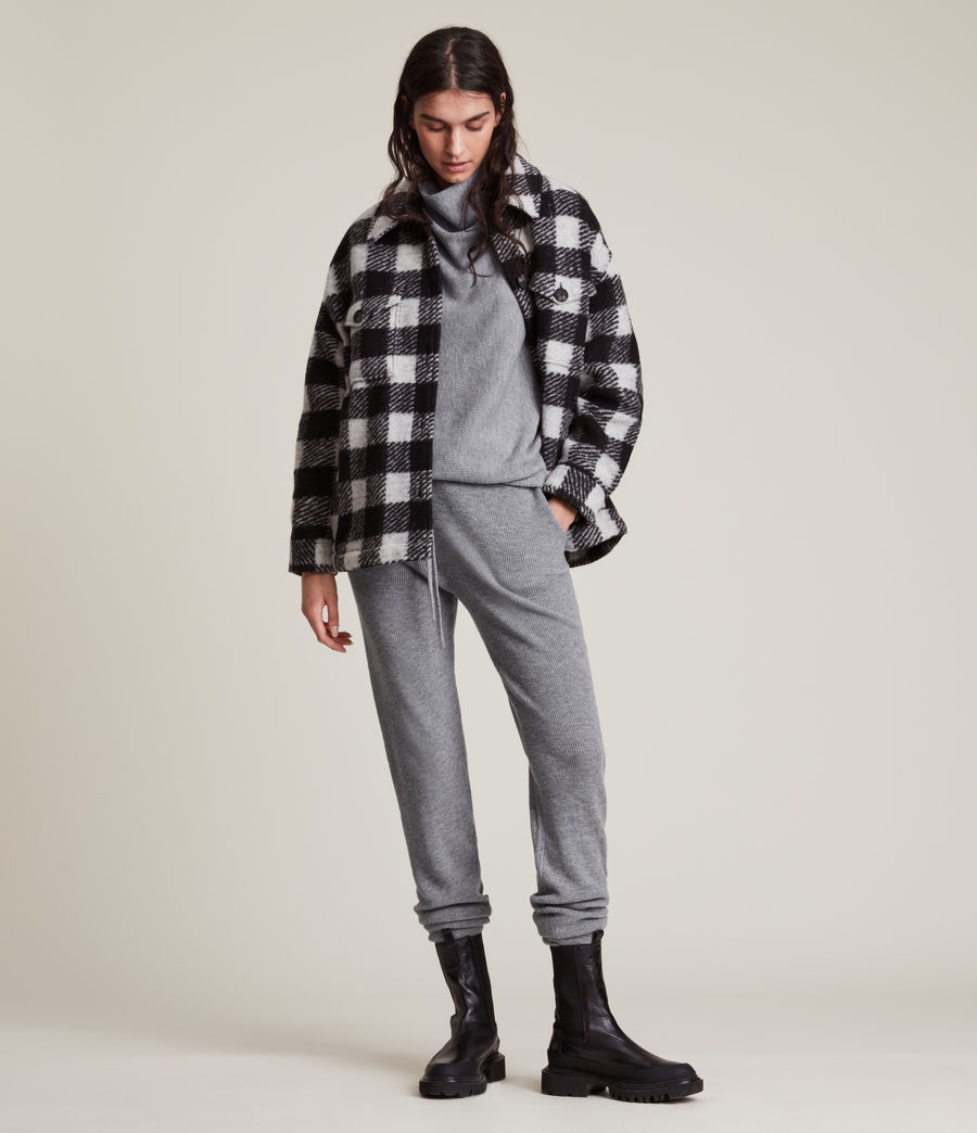 Women's Ridley Wool Cashmere Blend Joggers (thunder_grey) - Image 1
