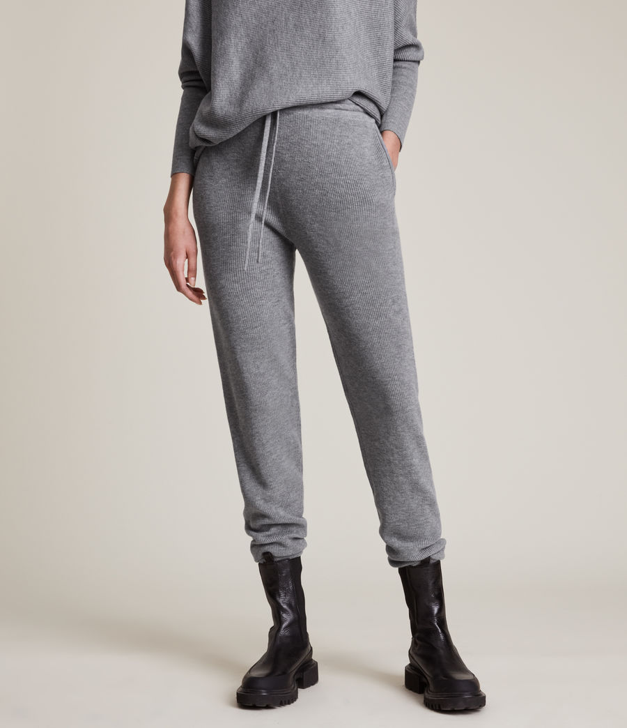 Women's Ridley Wool Cashmere Blend Joggers (thunder_grey) - Image 2