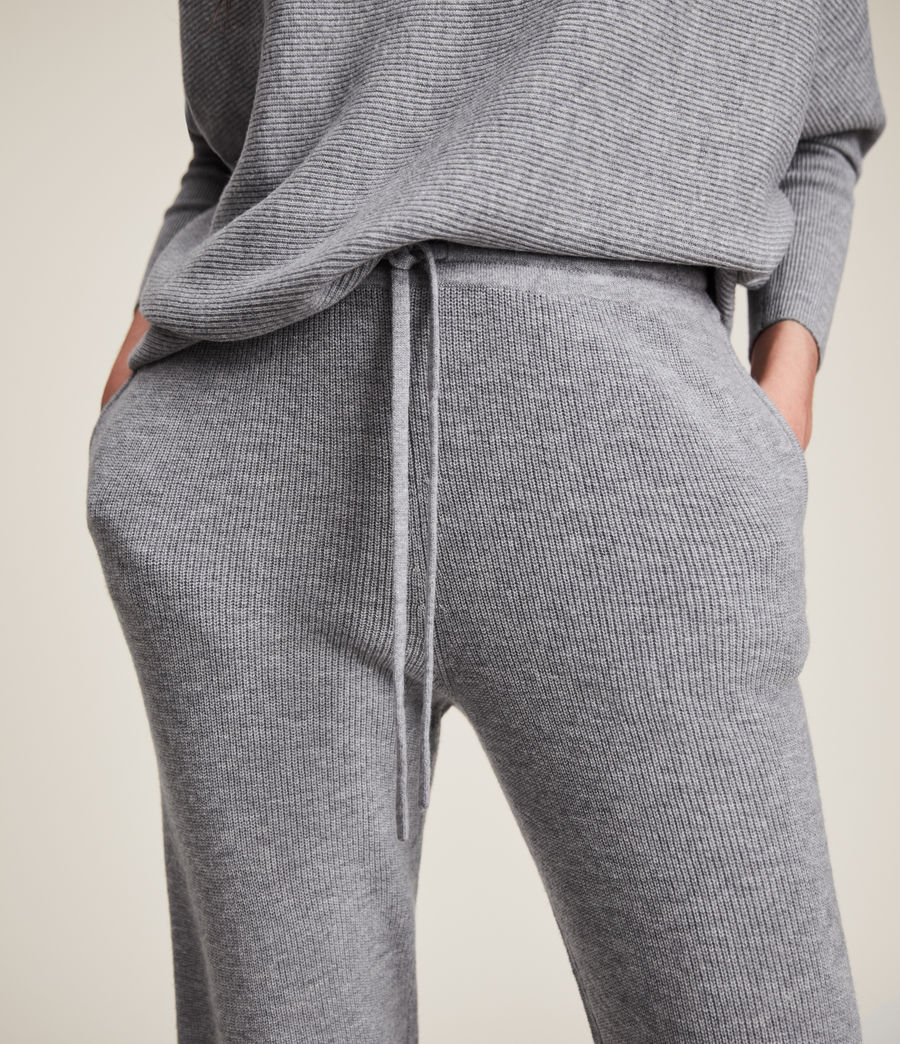 Women's Ridley Wool Cashmere Blend Joggers (thunder_grey) - Image 3