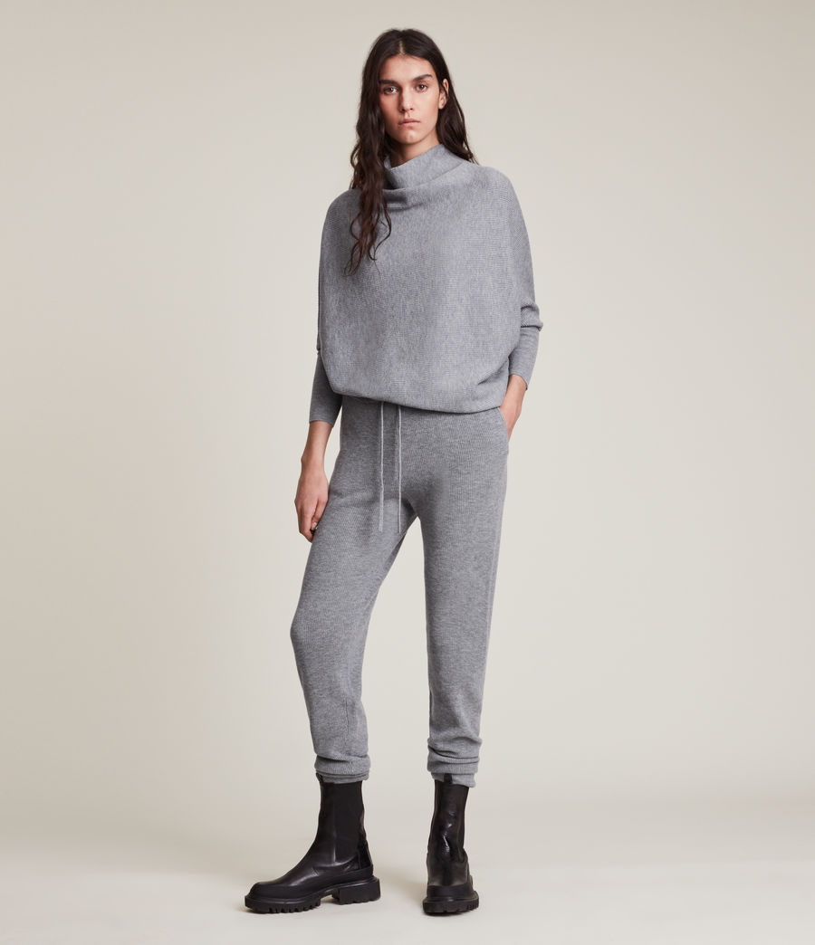Women's Ridley Wool Cashmere Blend Joggers (thunder_grey) - Image 4